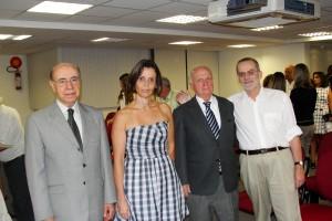 Ex-Ministro Ibrahim Abi Ackel (esquerda), Maristela Pacheco de Oliveira, Roberto Rogério e Amilcar Martins Viana (ex-deputado estadual e ex-secretário de governo)