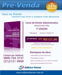 Pré-venda Marçal Justen Filho – Curso de Direito Administrativo