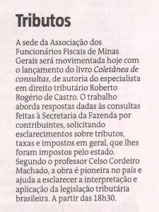 Jornal Estado de Minas publica nota sobre o lançamento da Coletânea de Consultas