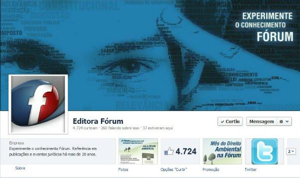 Facebook Editora Fórum