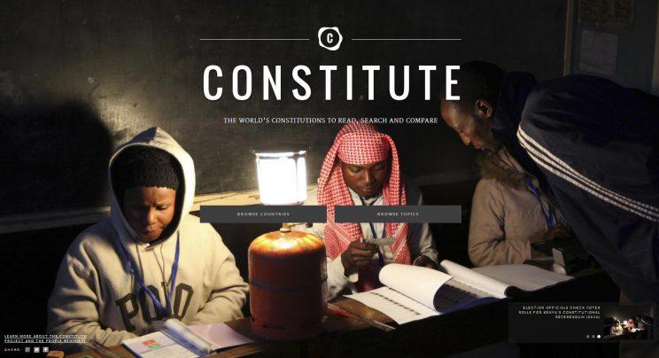 Site disponibiliza Constituições de todo o mundo