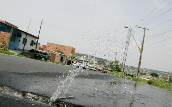 agua jorrando