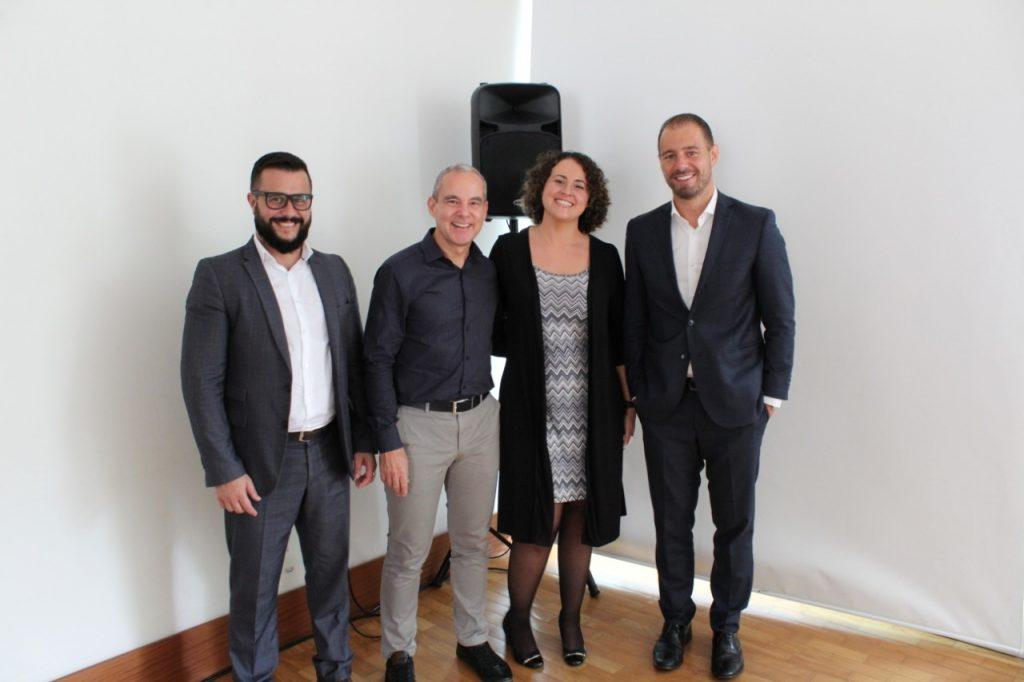 Eduardo Moura, Luís Cláudio, Maria Amélia e Rodrigo Pironti Edilaine no lançamento do Programa de Compliance FÓRUM