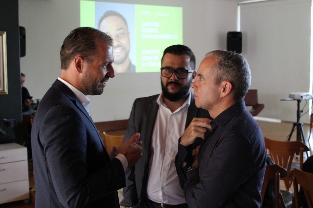 Rodrigo Pironti, Eduardo Moura e Luís Cláudio no lançamento do Programa de Compliance FÓRUM
