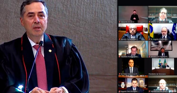 Imagem da posse do Ministro Barroso