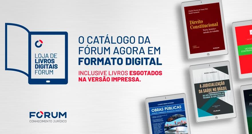 Nova loja de livros digitais da FÓRUM